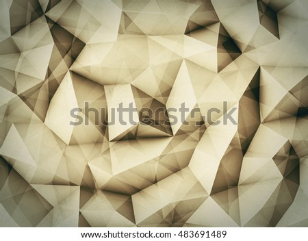Abstract grunge 3d background with polygonal pattern