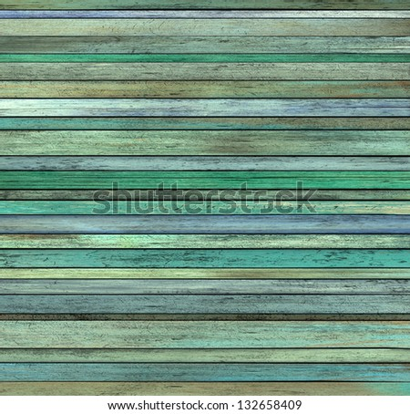 abstract grunge 3d render blue green wood timber plank backdrop - stock photo
