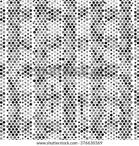Abstract grunge grid polka dot background pattern. Spotted halftone line illustration - stock photo