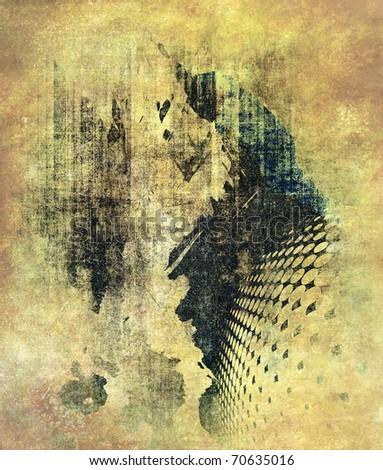 Abstract grunge illustration - stock photo