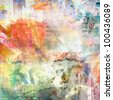 Abstract grunge illustration, color background - stock photo