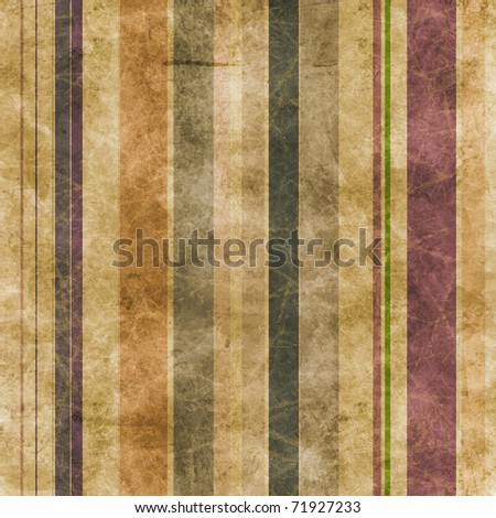 Abstract grunge lines on a brown paper background - stock photo