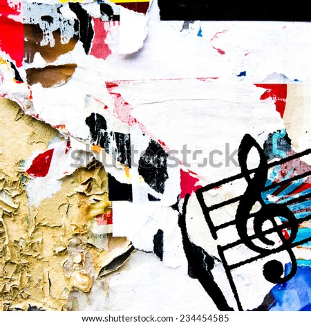 Abstract grunge melody textures and backgrounds with space  - stock photo