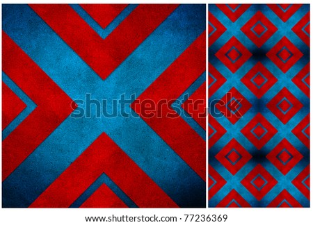 abstract grunge recycled paper craft mosaic background - stock photo