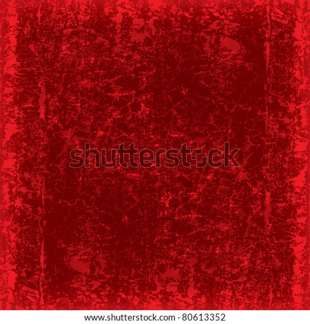 abstract grunge red background dirty wood plank - stock photo