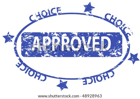 Abstract grunge rubber office stamp with the word approved written inside the stamp - stock photo
