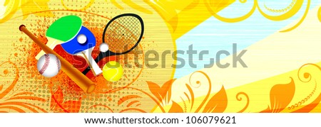 Abstract grunge sports object background with space