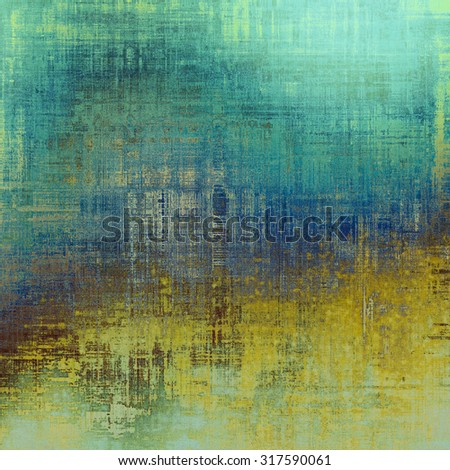 Abstract grunge textured background. With different color patterns: yellow (beige); brown; green; blue - stock photo