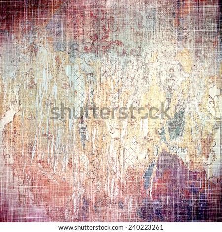 Abstract grunge textured background. With different color patterns: yellow (beige); brown; purple (violet); pink - stock photo