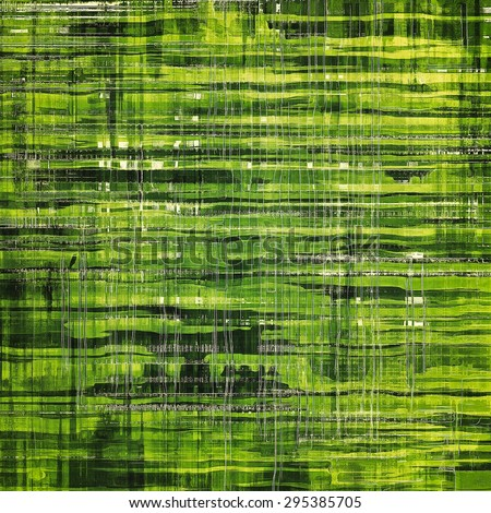 Abstract grunge textured background. With different color patterns: yellow (beige); gray; green - stock photo