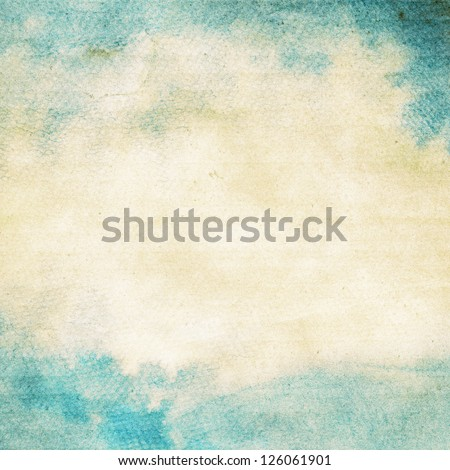 Abstract grunge watercolor background. - stock photo