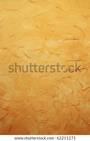 abstract grunge yellow paint background - stock photo