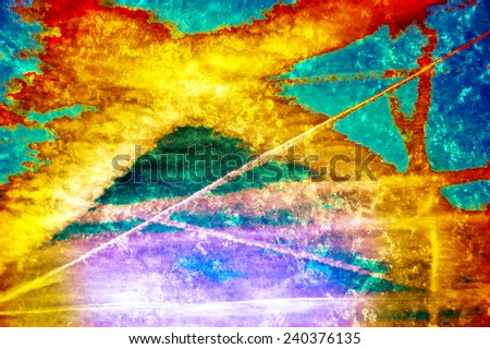 Abstract grungy background. World creation / disaster / chaos concepts. Paint splash. - stock photo