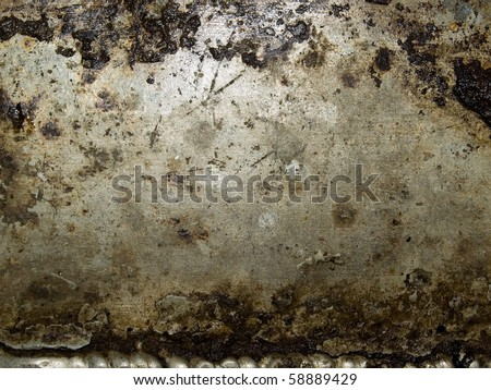 Abstract grungy metal surface closeup background. - stock photo