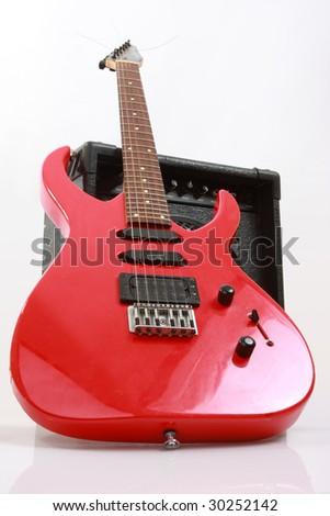 Abstract guitar theme - stock photo