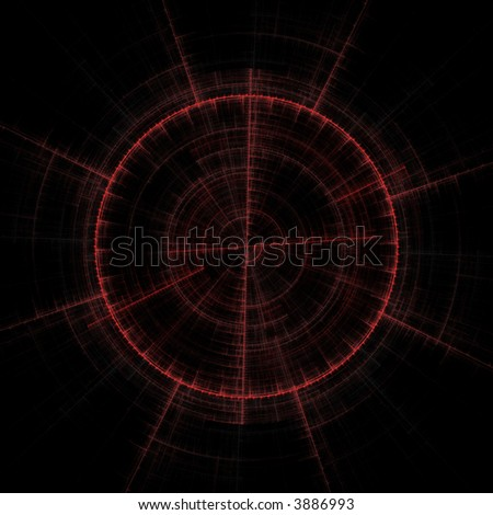 abstract gun sight or compass - stock photo
