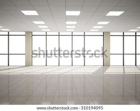 Abstract hall  3D rendering - stock photo