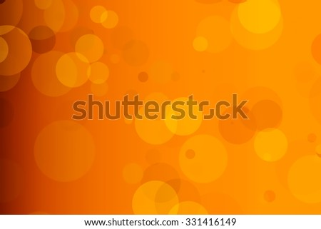 Abstract Halloween festive or party orange blur bokeh background. - stock photo