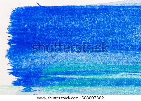 Abstract hand drawn blue and green watercolor paints background