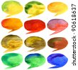 Abstract hand drawn watercolor background, for backgrounds or textures - stock vector