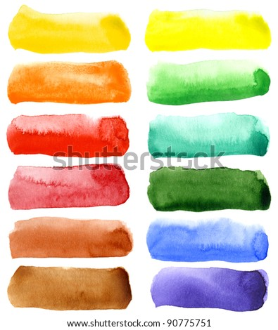 Abstract hand drawn watercolor background, for backgrounds or textures - stock photo