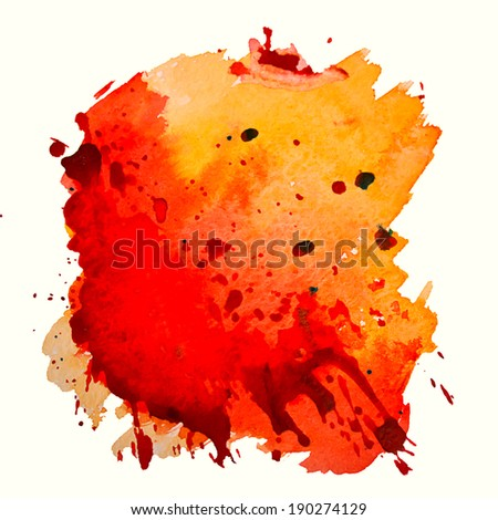 abstract hand drawn watercolor background, raster illustration
