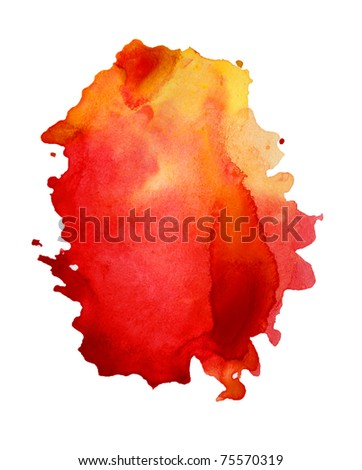 abstract hand drawn watercolor background, raster illustration - stock photo