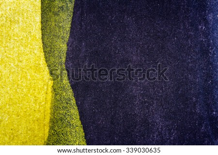 Abstract hand painted black and yellow watercolor arts background  - stock photo