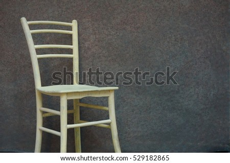 Abstract hand-painted vintage background with chair