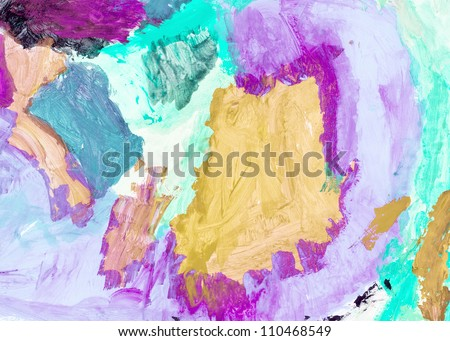 Abstract hand painted watercolor . Nice background for your projects - stock photo