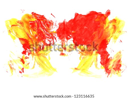 abstract hand painting watercolor background