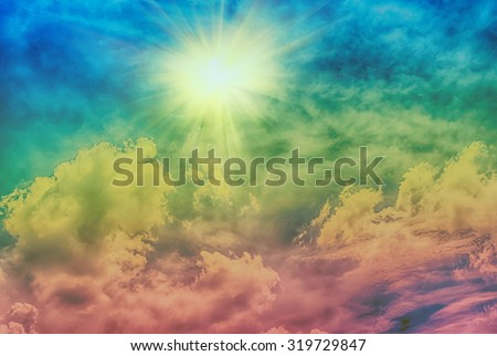 Abstract hdr effect fluffy clouds blue stock photo 100 legal abstract hdr effect fluffy clouds and blue sky background thecheapjerseys Image collections