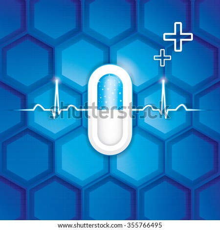 Abstract health care innovation concept background - stock photo