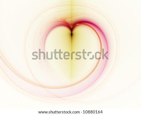 abstract heart - stock photo