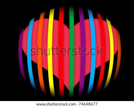 Abstract - Heart - stock photo