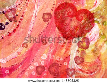 Abstract heart Background Texture - stock photo