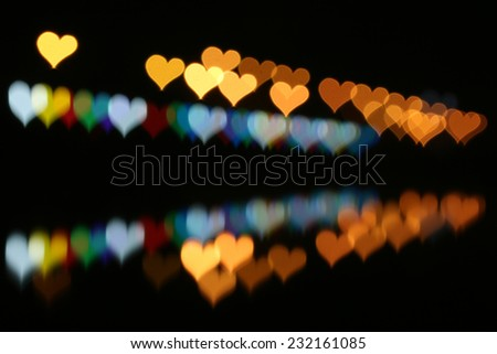 Abstract heart-bokeh background - stock photo