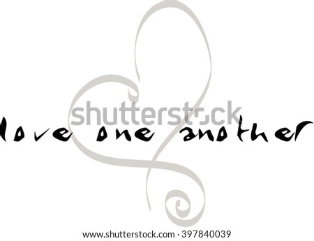 Abstract  heart. Element for design. - stock photo