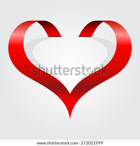 Abstract heart symbol. Raster version - stock photo