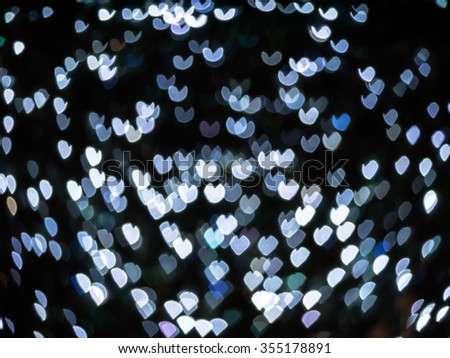 Abstract hearts bokeh light valentine's day background.