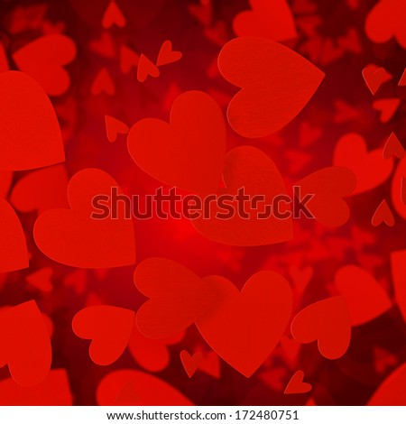 abstract hearts valentine's red background