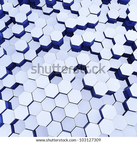 Abstract hexagonal background - stock photo