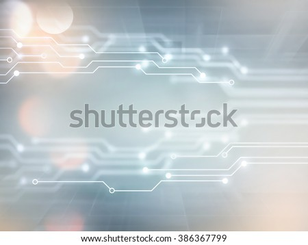 Abstract high tech background in white and gray tones - stock photo