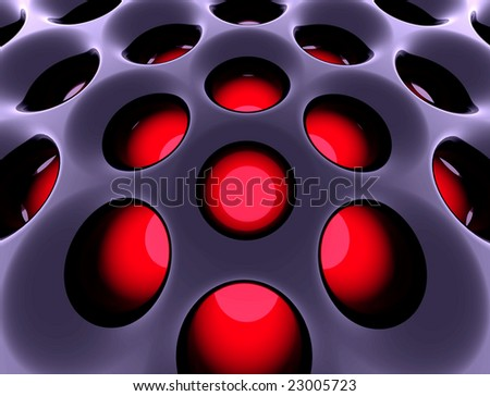Abstract high-tech black structure. 3d rendered image. - stock photo
