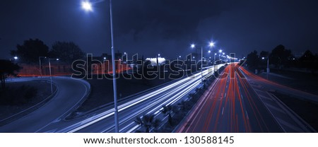 abstract highway - stock photo