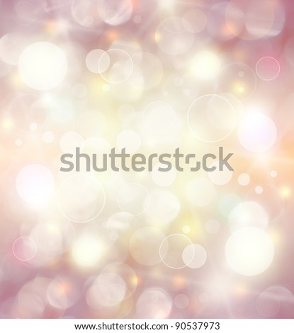 Abstract holiday background, beautiful shiny Christmas lights, glowing magic bokeh - stock photo