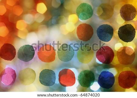 Abstract holidays lights - stock photo