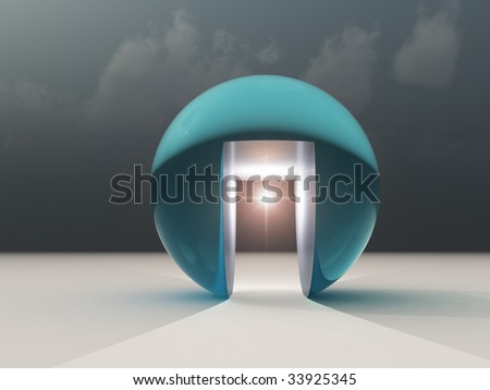 Abstract Hope for Opportunity - stock photo
