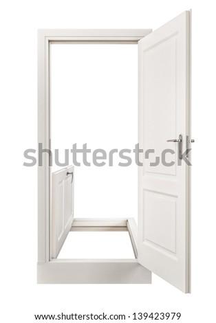 Abstract Horizontal and Vertical Door,  - stock photo