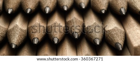 Abstract horizontal composition,, bunch of pencils, close up, macro  - banner / header edition           - stock photo